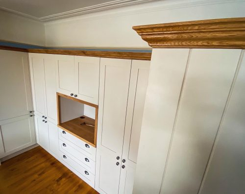 Birch plywood cabinetry with hard wood shaker doors. Kitchens Skipton
