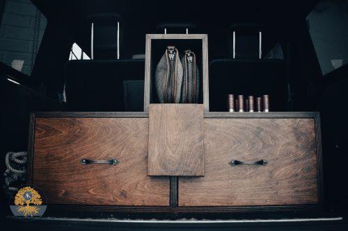 Bespoke shotgun cabinet joinery project